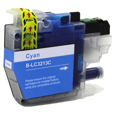 TINTA COMPATIBLE BROTHER LC3213C CIAN