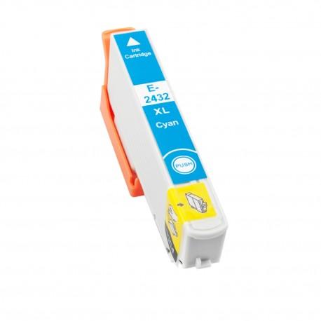 TINTA COMPATIBLE EPSON T2432 - 24XL CIAN