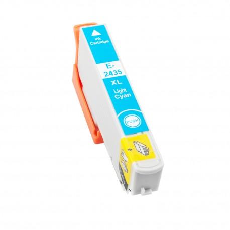 TINTA COMPATIBLE EPSON T2435 - 24XL CIAN CLARO