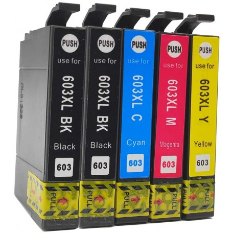 PACK 5 TINTAS COMPATIBLES EPSON 603XL