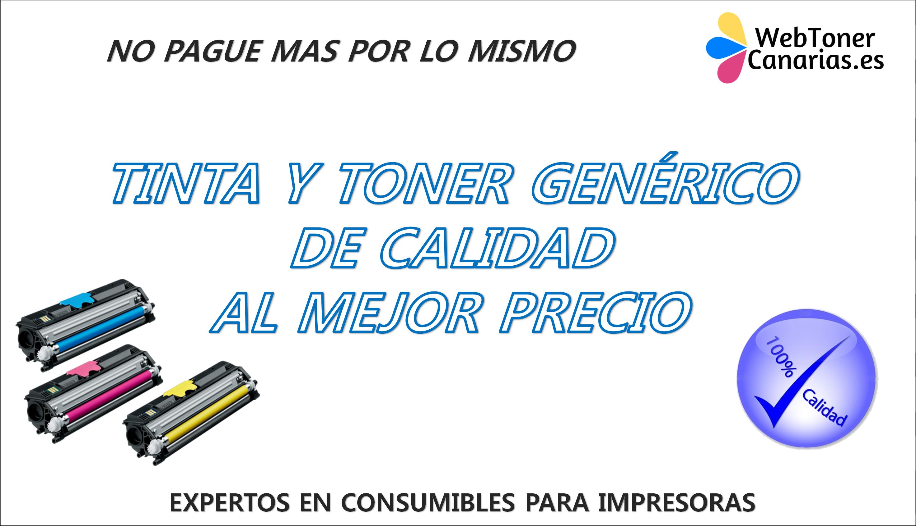 WebToner Canarias. Tinta y Toner para impresora en Canarias. Envíos a todas las islas.